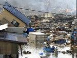 No sábado (12), moradores foram resgatados da localidade de Kesennuma