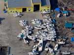 Embarcações ficaram amontoadas em Sendai depois do tsunami que atingiu o Japão na sexta-feira (11)