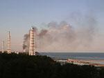 Fumaça volta a aparecer no terceiro reator da usina nuclear de Fukushima, no Japão, na quarta-feira, 23 de março