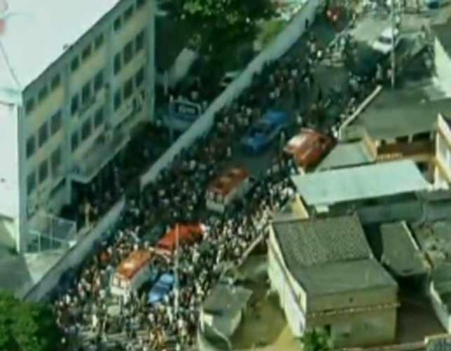 Homem invade escola no Rio de Janeiro e atira contra estudantes Reprodução/