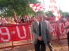 Roberto Siegmann foi muito aplaudido em sua chegada ao Beira-Rio