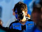 O garoto foi com a cara pintada para torcer pelo Grêmio contra o São Paulo