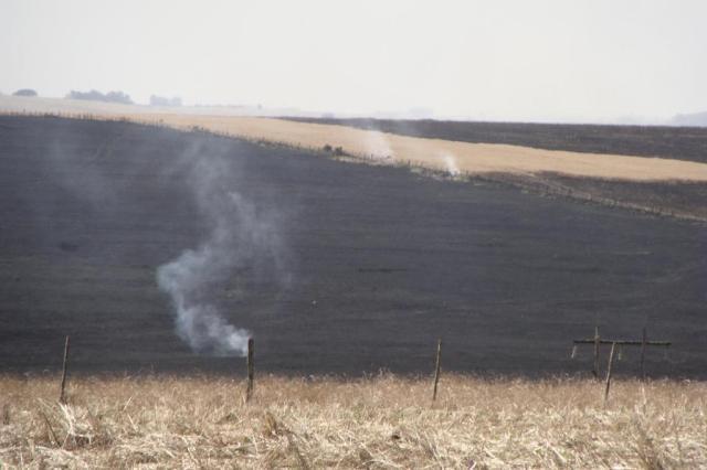 Incêndio em lavoura mobiliza bombeiros e assusta moradores de Cruz Alta Bruno Gustavo Seifert Keitel/Especial