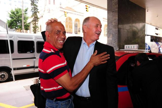 Felipão reencontra ex-companheiro após palestra em Porto Alegre Fernando Gomes/Agencia RBS