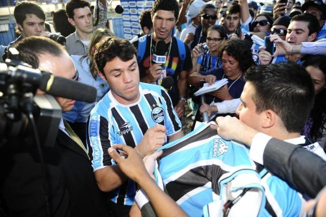 A chegada de Kleber ao Grêmio em 10 momentos Diego Vara/Agencia RBS