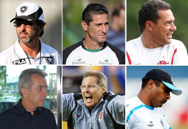 Raio X: Os possíveis técnicos que podem assumir o Grêmio em 2012 Montasgem sobres as fotos de Diego Vara, Flávio Neves, Satiro Sodré/AGIF, André Portugal/VIPCOMM e AP/