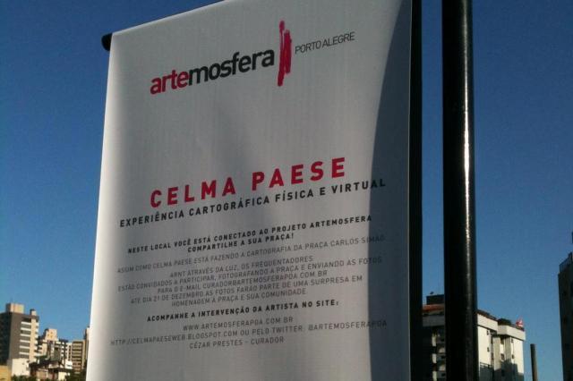 Obra colaborativa na Praça da Encol pede fotos de visitantes para exposição Celma Paese/Arquivo Pessoal