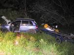 Dois veículos se envolveram em uma colisão traseira na rodovia que liga Maquiné a a Capão da Canoa (ERS-407)