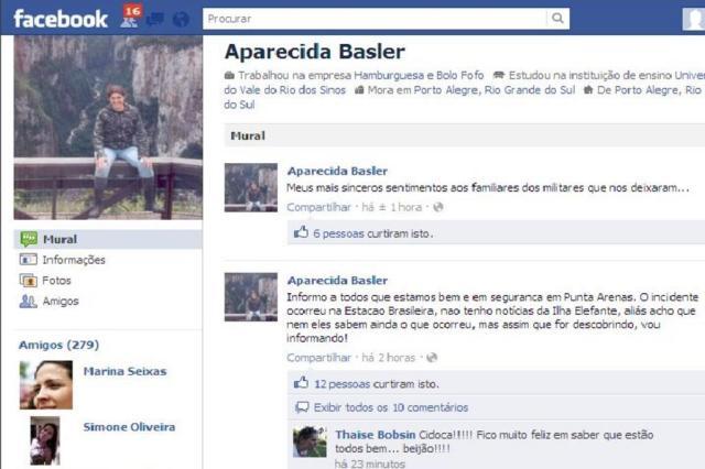 """""""Estamos bem e em segurança"""", diz pesquisadora gaúcha resgatada de Estação na Antártica Reprodução/Facebook"""