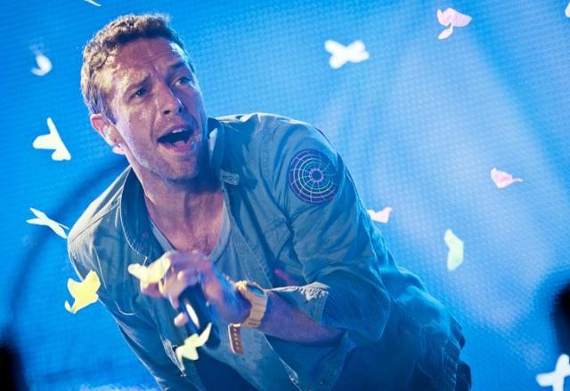 """Vocalista do Coldplay diz que não gravaria com Justin Bieber por ele ser """"bonito demais"""" Divulgação, Rock In Rio/"""