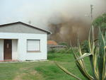 Um incêndio de grandes proporções atingiu a Ilha do Leonídio, em Rio Grande, no sul do Estado, na manhã desta terça-feira, 13 de março de 2012