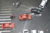 Motorista empurra taxi na rua Sete de Setembro (em frente à Defensoria Pública do Estado)