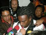 Tinga no Inter após jogo contra The Strongest, válido pela Copa Libertadores da América 2012