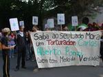 Cerca de cem integrantes do Levante Popular da Juventude participaram da manifestação em Porto Alegre