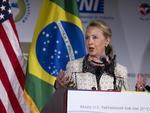 Secretária americana de Estado, Hillary Clinton, participou do seminário Brasil-EUA