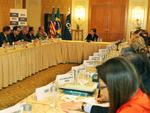 Na tarde de domingo, a Dilma se reuniu com representantes de empresas brasileiras que exportam para os Estados Unidos