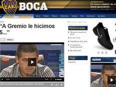 """Boca fica em segundo e Riquelme lembra final contra o Grêmio: """"Fizemos cinco"""" Reprodução/Olé"""