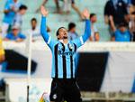André Lima comemora gol na partida contra o Canoas
