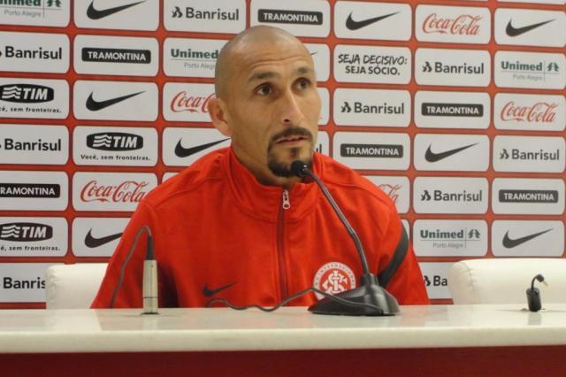 """""""Estamos preparados para uma decisão"""", diz Guiñazu sobre jogo contra o Flu Guilherme Becker/AgênciaRBS"""