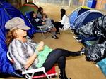 Fãs, acampados aguardam o show de Paul McCartney em Florianópolis