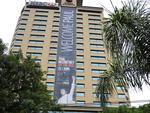 Fachada do Hotel Magestic em Florianópolis, dando as boas vindas ao ex-Beatle Paul MacCartney