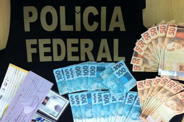 Operação da PF desarticula quadrilha que usava dinheiro falso no RS e SC Polícia Federal Chapecó/Divulgação