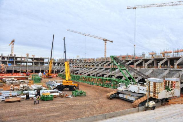 Instalação da cobertura da Arena será iniciada nesta segunda-feira Omar Freitas/Agencia RBS