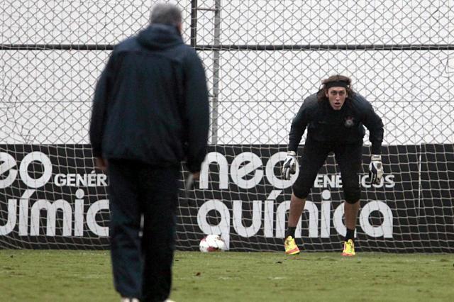 Corinthians treina jogadas aéreas para segurar o Emelec no Equador Miguel Schincariol/LancePress