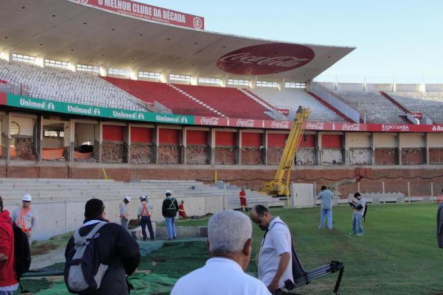 MP pede na Justiça interdição do Beira-Rio durante obras para a Copa Guilherme Becker/AgênciaRBS