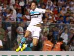 Marco Antônio comemorou após marcar belo gol na partida