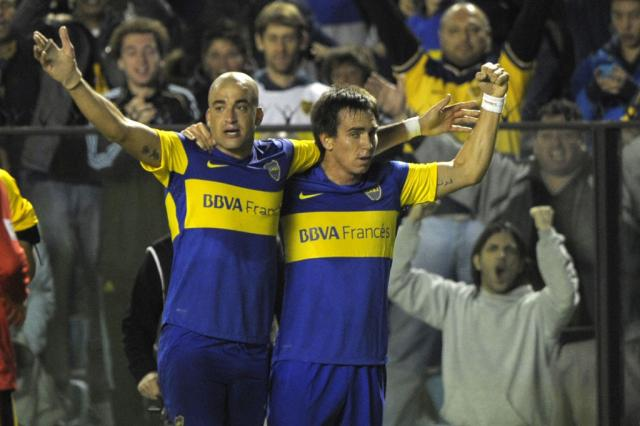 Com gol de Santiago Silva no final, Boca Juniors vence Unión em casa Juan Mabromata/AFP/