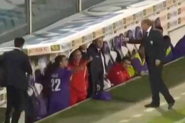 Técnico da Fiorentina é demitido por agredir jogador  Reprodução/Youtube/