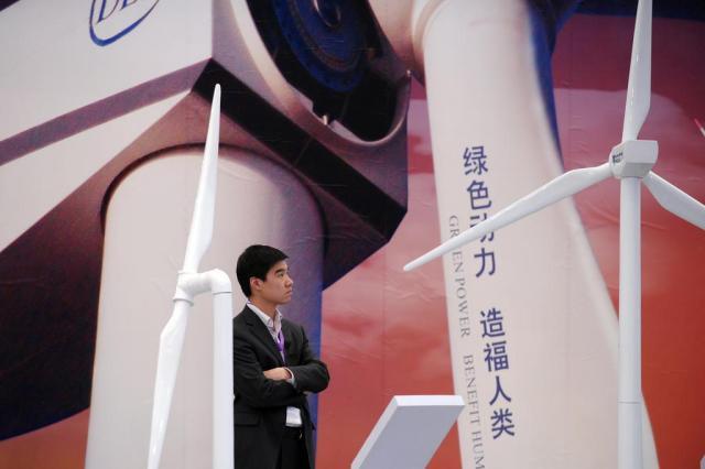 Cidade chinesa de Gansu concentra esforços em energia renovável Peter PARKS/AFP