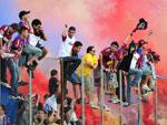 Torcida do Caxias coloriu as arquibancadas do estádio Centenário