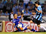 Em jogada de Miralles, Bertoglio marcou o segundo gol do Grêmio na partida