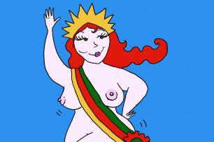Ilustração de Mauren Veras vence votação de Miss Aurora Precursora Mauren Veras/Especial