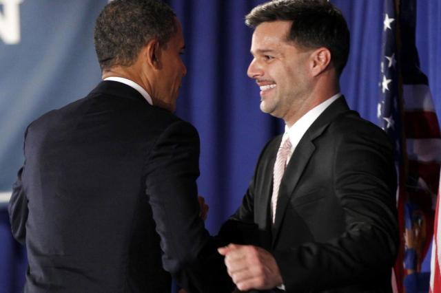 Ricky Martin apresenta Obama a eleitores gays em Nova York AP Photo/Pablo Martinez Monsivais/AP