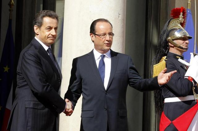 François Hollande toma posse como presidente da França Jacques Brinon/AP