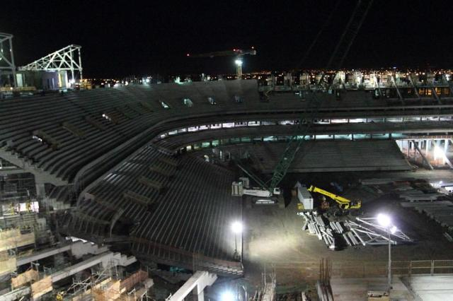 FOTO: uma visão diferente da Arena do Grêmio no bairro Humaitá Juliano Kracker,divulgação,Grêmio/Agência RBS