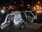 Acidente aconteceu em um cruzamento com semáforo