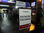 Todas as estações do trensurb na Região Metropolitana foram fechadas pelos metroviários