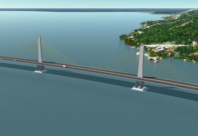 Construção de ponte sobre o Canal Laranjeiras, no Sul de Santa Catarina, deve ser concluída até 2014 DNIT/Divulgação?DN