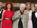 """Pierre Arditi, Sabine Azema, Alain Resnais, Anne Consigny e Denis Podalydes na exibição de """"Vous n'avez encore rien vu"""""""
