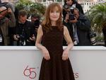"Atriz francesa Isabelle Huppert divulgando ""In Another Country"""
