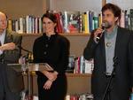 O presidente do júri de 2012, Nanni Moretti fala depois de receber o título de Comandante da Ordem das Artes e das Letras do ministro da Cultura francês