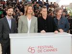 "Scoot McNairy, Brad Pitt, Ray Liotta e Ben Mendelsohn divulgando ""Killing them Softly"""