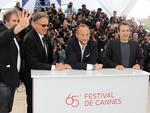 """Ator e diretor Gustave Kerven, ator e diretor Benoit Delepine, ator Benoit Poelvoorde e ator e diretor Albert Dupontel representando """"Le Grand Soir"""" presenta na mostra paralela """"Um Certo Olhar"""""""
