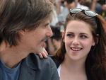 """O diretor brasileiro Walter Salles ao lado da estrela de """"Crepúsculo"""" Kristen Stewart"""
