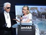 Diane Kruger e Karl Lagerfeld
