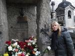 """""""Túmulo de Alan Kardec no cemitério Père Lachaise em Paris"""""""